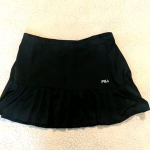 Fila black pleated tennis skirt size large